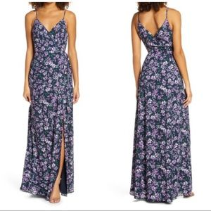 WAYF The Angelina Floral Slit Wrap Gown maxi dress